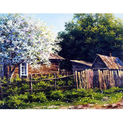 Paint by number kit with scenary, House Scenery