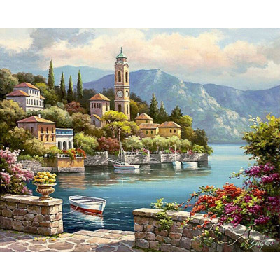 Paint by number kit with scenary, DTPI129