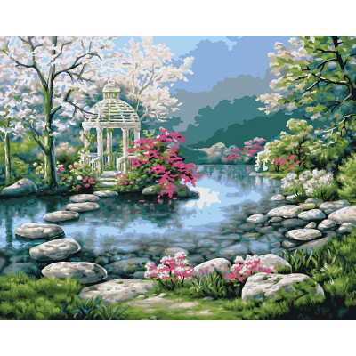 Paint by number kit with scenary, DTPI1638