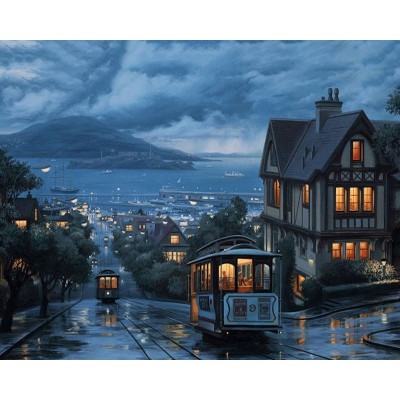 Paint by number kit with cities, DTPI206