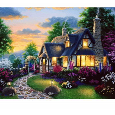 Paint by number kit with scenary, DTPI2172