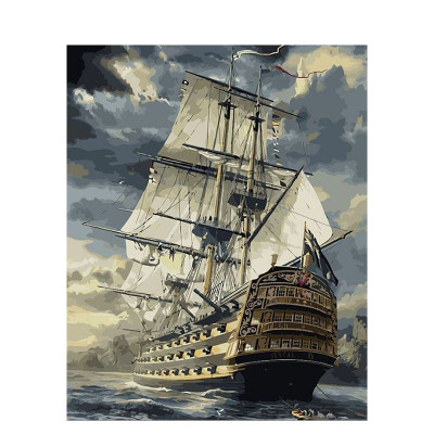 Paint by number kit with ships, DTPI22