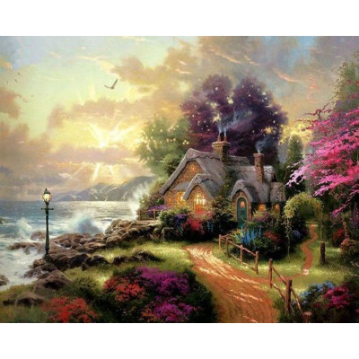 Paint by number kit with scenary, DTPI238
