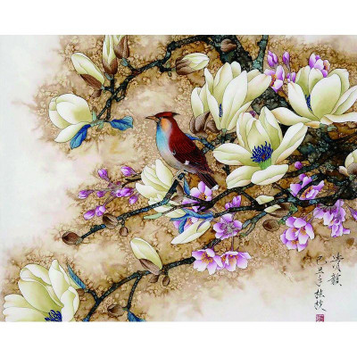 Paint by number kit with birds, DTPI240