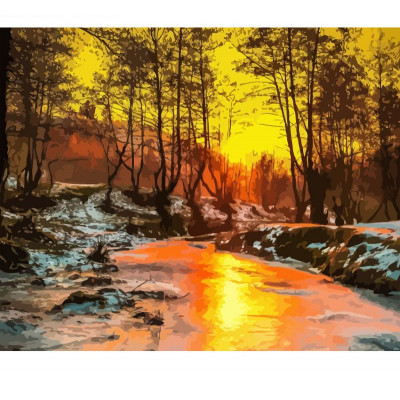 Paint by number kit with scenary, DTPI2455