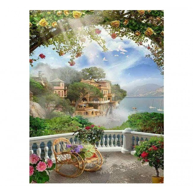 Paint by number kit with scenary, DTPI2579