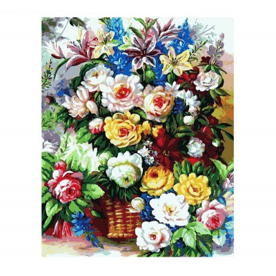 Paint by number kit with flowers, DTPI2588