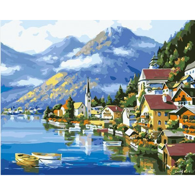 Paint by number kit with cities, DTPI2855