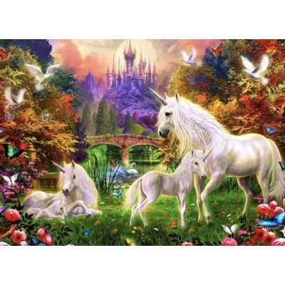 Paint by number kit with animals, DTPI2887