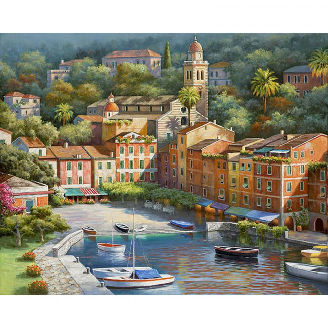 Paint by number kit with cities, DTPI291