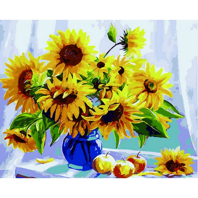 Paint by number kit with flowers, DTPI293