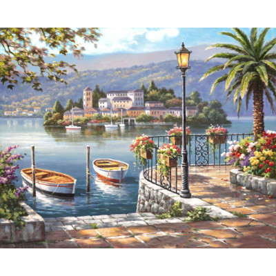 Paint by number kit with ships, DTPI296