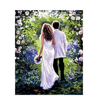 Paint by number kit with people, Love us Couple