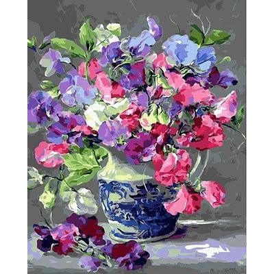 Paint by number kit with flowers, DTPI2983