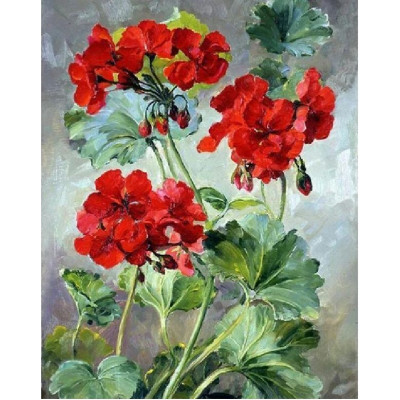 Paint by number kit with flowers, DTPI2991