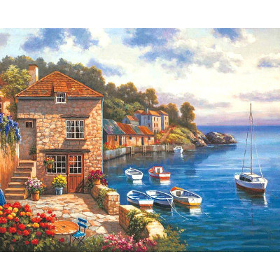 Paint by number kit with ships, DTPI308