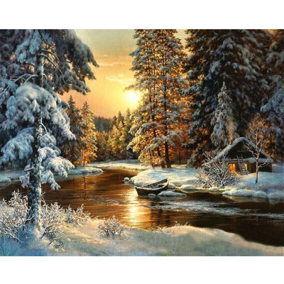 Paint by number kit with winter, DTPI319