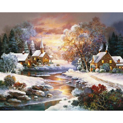 Paint by number kit with winter, DTPI324