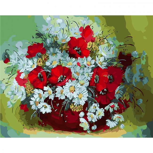 Paint by number kit with flowers, DTPI330