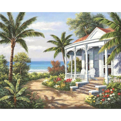 Paint by number kit with scenary, DTPI429
