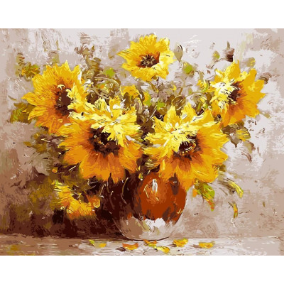 Paint by number kit with flowers, DTPI432