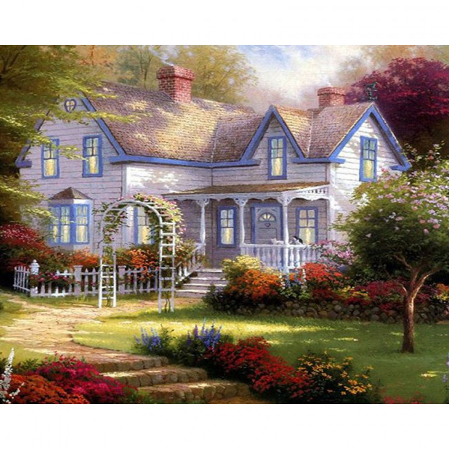 Paint by number kit with scenary, DTPI435