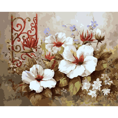 Paint by number kit with flowers, DTPI445