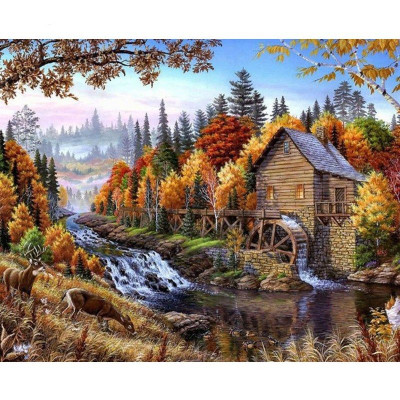 Paint by number kit with scenary, DTPI457