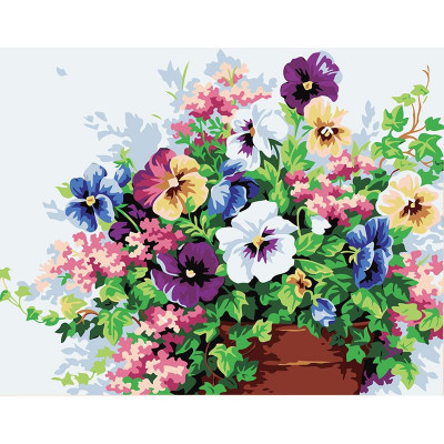 Paint by number kit with flowers, DTPI479