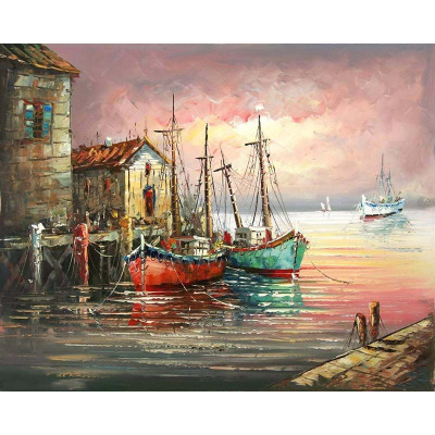 Paint by number kit with ships, DTPI484