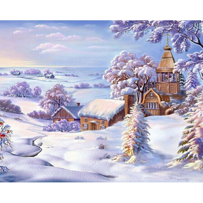 Paint by number kit with winter, DTPI552