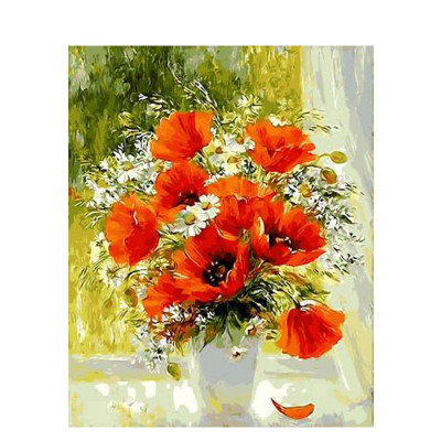 Paint by number kit with flowers, DTPI65