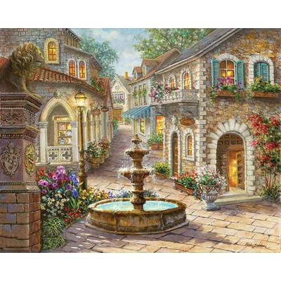Paint by number kit with scenary, DTPI650