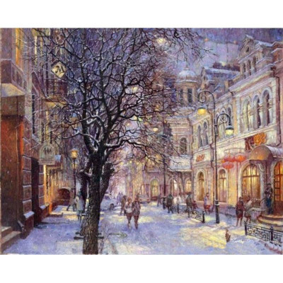 Paint by number kit with winter, DTPI88