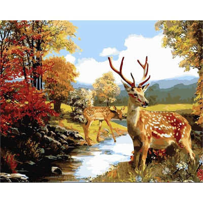 Paint by number kit with animals, DTPI91