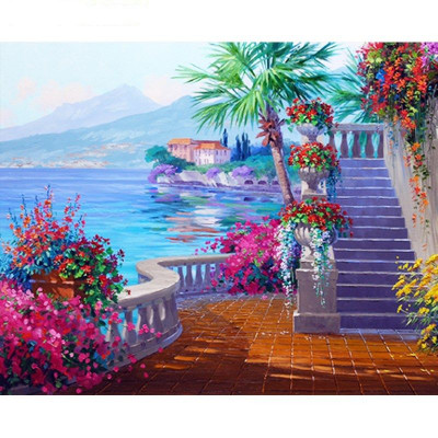 Paint by number kit with scenary, DTPI953