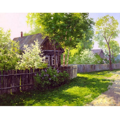 Paint by number kit with scenary, DTPI989