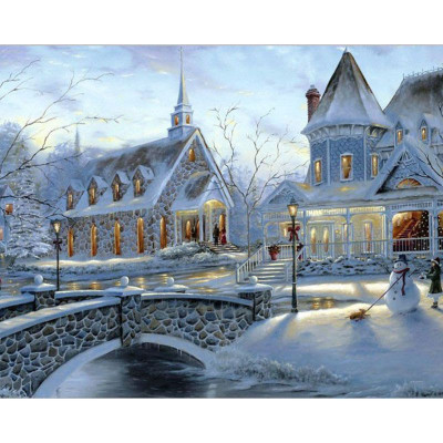 Paint by number kit with winter, DTPI185