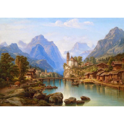 Paint by number kit with scenary, DTPI1866