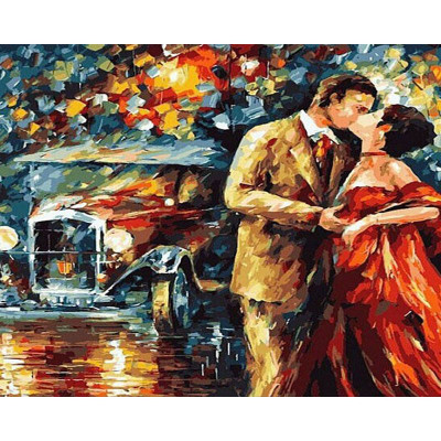 Paint by number kit with people, Couple Love Picture