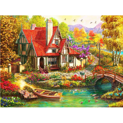 Paint by number kit with scenary, DZ4089