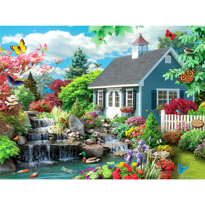 Paint by number kit with scenary, DZ4165