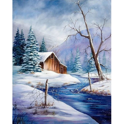 Paint by number kit with winter, DTPI4833