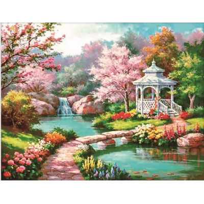 Paint by number kit with scenary, DTPI4849