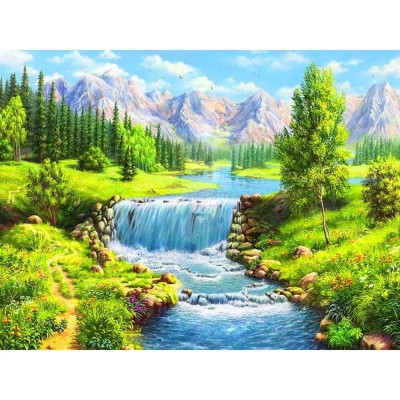 Paint by number kit with scenary, DTPI4850