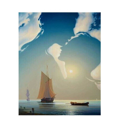Paint by number kit with ships, DTPI666