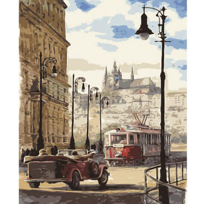 Paint by number kit with cities, DTPI1152