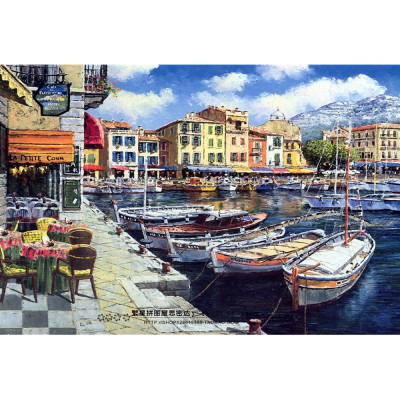 Paint by number kit with ships, DTPI577