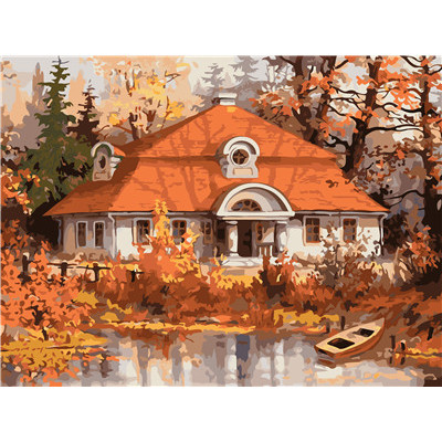 Paint by number kit with scenary, DTPI315