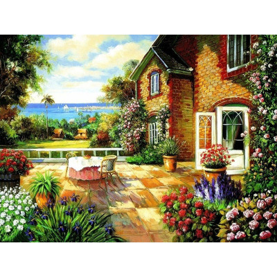 Paint by number kit with scenary, DTPI456